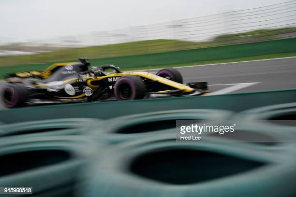 Nico Hulkenberg of Germany driving the Renault Sport Formula One Team RS18 on track during practice for the Formula One Grand Prix of China at...