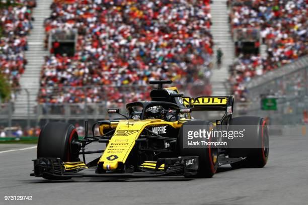 Nico Hulkenberg of Germany driving the Renault Sport Formula One Team RS18 on track during the Canadian Formula One Grand Prix at Circuit Gilles...