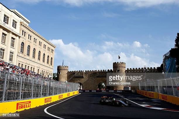 Nico Hulkenberg of Germany driving the Sahara Force India F1 Team VJM09 Mercedes PU106C Hybrid turbo on track during the European Formula One Grand...