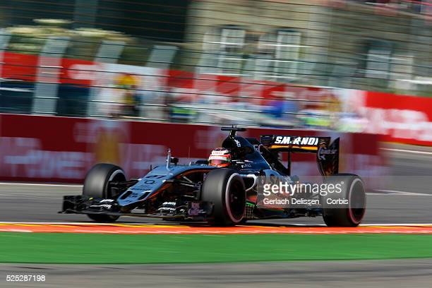 Nico Hulkenberg of the Sahara Force India F1 Team during the 2015 Formula 1 Shell Belgian Grand Prix free practise 1 at Circuit de Spa-Francorchamps...