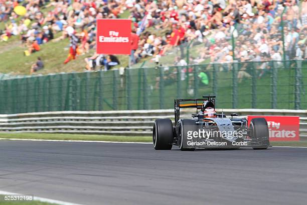 Nico Hulkenberg of the Sahara Force India F1 Team during the 2015 Formula 1 Shell Belgian Grand Prix free practice 2 at Circuit de Spa-Francorchamps...