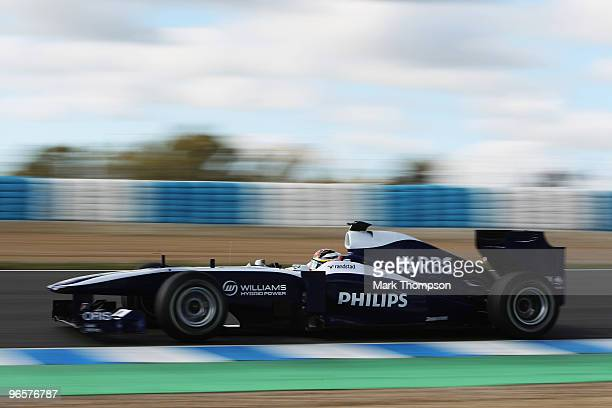 Nico Hulkenburg of Germany and Williams drives during winter testing at the Circuito De Jerez on February 11 2010 in Jerez de la Frontera Spain