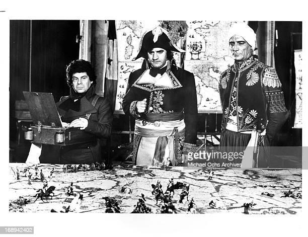 Nico Il Grande Aldo Maccione and Romano Puppo in a scene from the film 'The Loves And Times Of Scaramouche' 1976