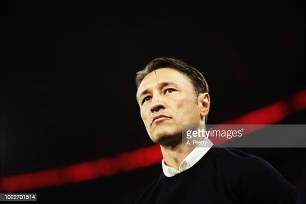 Nico Kovac head coach of Bayern Munich during the Bundesliga match between FC Bayern Muenchen and TSG 1899 Hoffenheim at Allianz Arena on August 24...