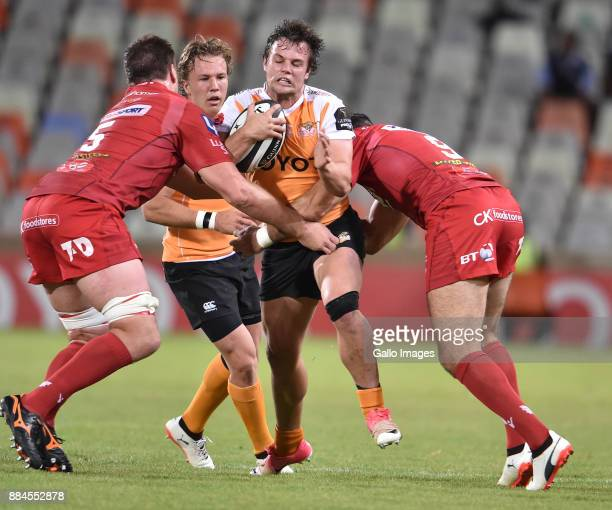 Nico Lee of the Toyota Cheetahs during the Guinness Pro14 match between Toyota Cheetahs and Scarlets at Toyota Stadium on December 02 2017 in...