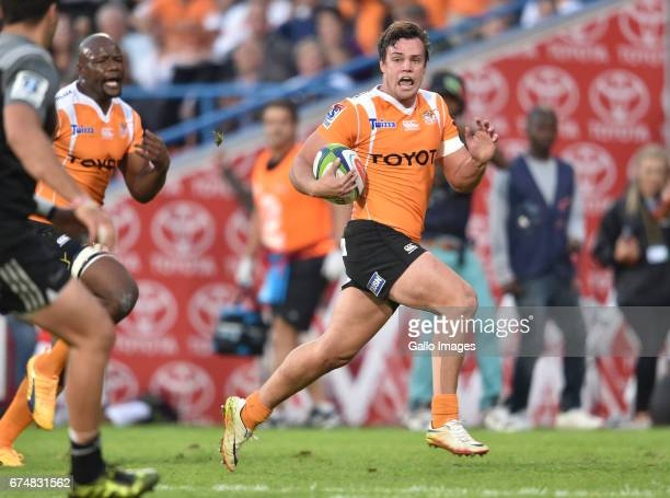 Nico Lee of the Toyota Cheetahs during the Super Rugby match between Toyota Cheetahs and Crusaders at Toyota Stadium on April 29 2017 in Bloemfontein...
