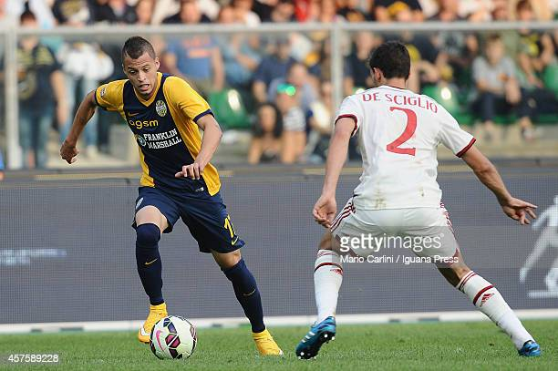 Nico Lopez of Hellas Verona FC in action during the Serie A match between Hellas Verona FC and AC Milan at Stadio Marc'Antonio Bentegodi on October...