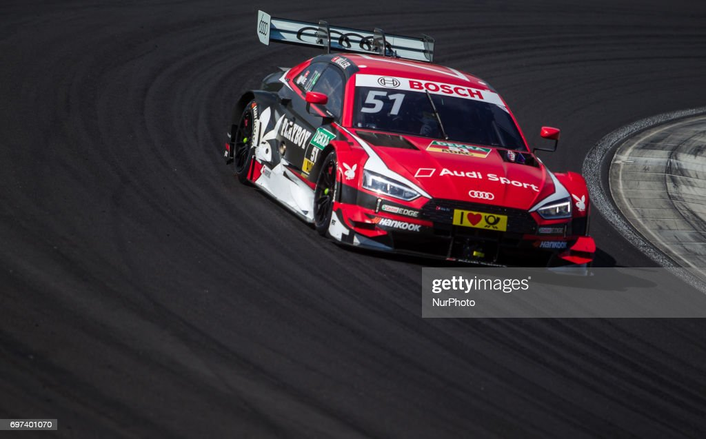 Nico Müller of Switzerland and Audi Sport Team Abt Sportsline racing driver during the Hungarian DTM race on June 18, 2017 in Mogyoród, Hungary.