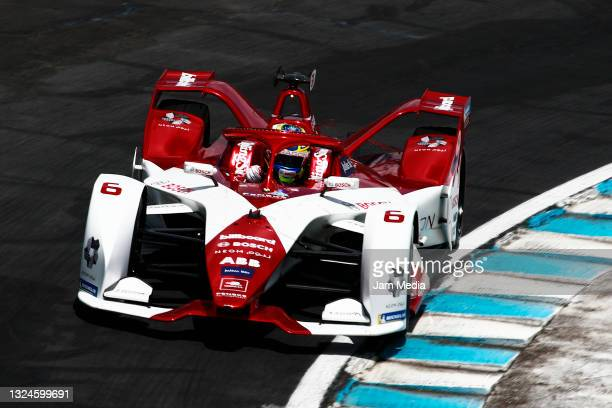 Nico Mueller of Germany drives with the Geox Dragon team during the competition of the ABB FIA Formula E Championship - Puebla E-Prix Round 9 at...