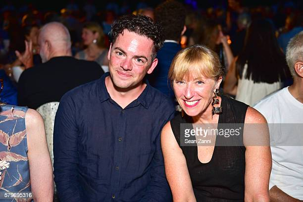 Nico Muhly and Cindy Sherman attend LongHouse Reserve 2016 Jubilee Year Summer Benefit Serious Moonlight at LongHouse Reserve on July 23 2016 in East...