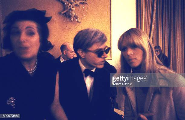 Nico of the Velvet Underground with artist and manager Andy Warhol at the New York Society for Clinical Psychiatry annual dinner, The Delmonico...