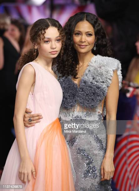 Nico Parker and Thandie Newton attend the 'Dumbo' European premiere at The Curzon Mayfair on March 21 2019 in London England