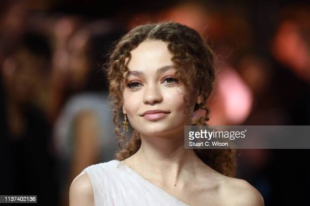 Nico Parker attends the 'Dumbo' European premiere at The Curzon Mayfair on March 21 2019 in London England