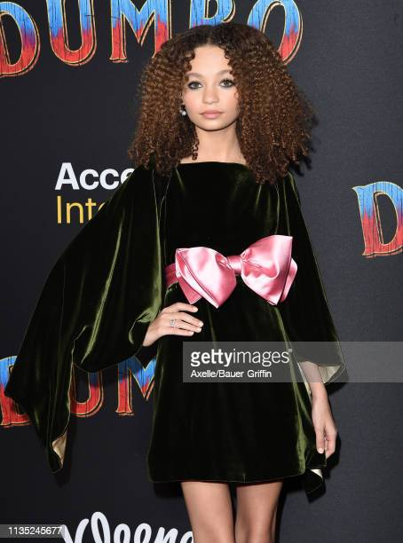 Nico Parker attends the premiere of Disney's Dumbo at El Capitan Theatre on March 11 2019 in Los Angeles California