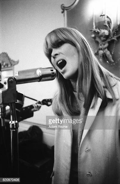 Nico performs on stage with the Velvet Underground at the New York Society for Clinical Psychiatry annual dinner, The Delmonico Hotel, New York, 13th...
