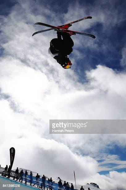 Nico Porteous of New Zealand competes during the Winter Games NZ FIS Men's Freestyle Skiing World Cup Halfpipe Finals at Cardrona Alpine Resort on...