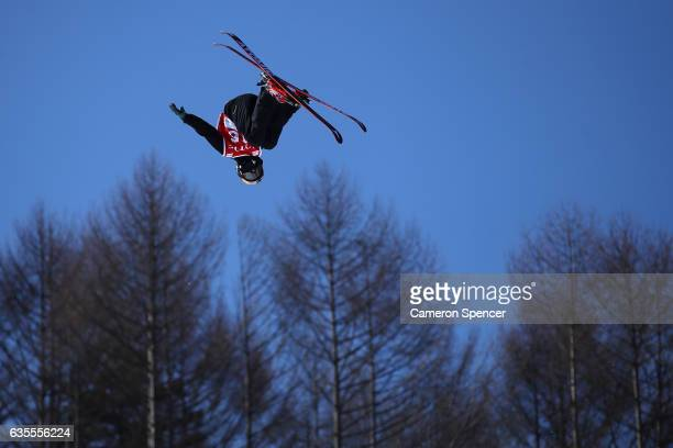 Nico Porteous of New Zealand competes in the FIS Freestyle World Cup Ski Halfpipe Qualification at Bokwang Snow Park on February 16 2017 in...