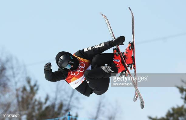Nico Porteous of New Zealand competes in the Men's Ski Halfpipe final on day thirteen at Phoenix Snow Park on February 22 2018 in Pyeongchanggun...