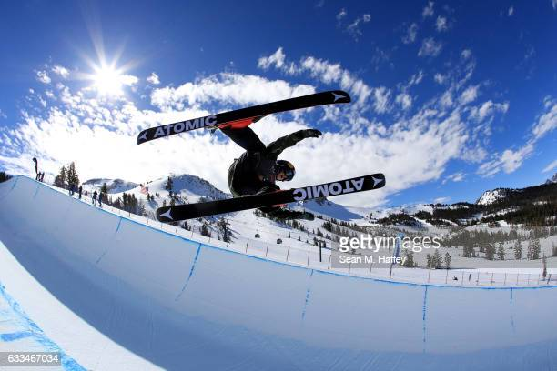 Nico Porteous of New Zealand competes in the qualifying round of the FIS Freestyle Ski World Cup 2017 Men's Ski Halfpipe during the Toyota US Grand...