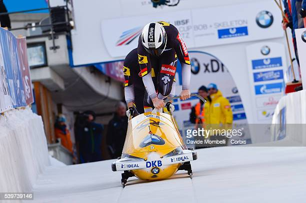 Nico Poser Christian in action during the start BMW IBSF World Cup Bob 2 man 2015/2016 St Moritz Swiss