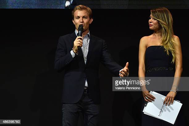 Nico Rosberg and Federica Masolin attend during the Laureus F1 Charity Night 2015 at MercedesBenz Spa on September 3 2015 in Monza Italy