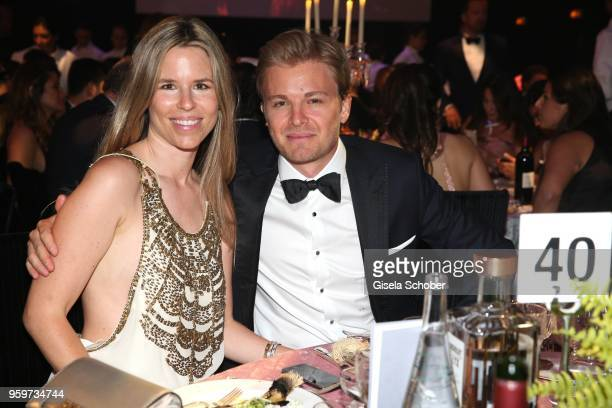 Nico Rosberg and his wife Vivian Rosberg during the amfAR Gala Cannes 2018 dinner at Hotel du CapEdenRoc on May 17 2018 in Cap d'Antibes France
