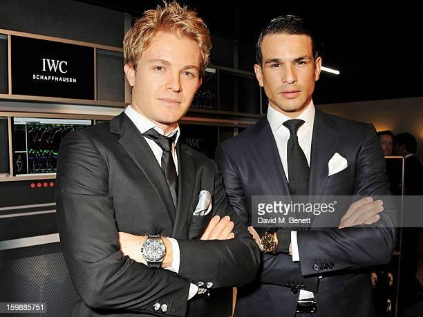 Nico Rosberg and Jose Maria Manzanares attend the IWC Schaffhausen Race Night event during the Salon International de la Haute Horlogerie 2013 at...