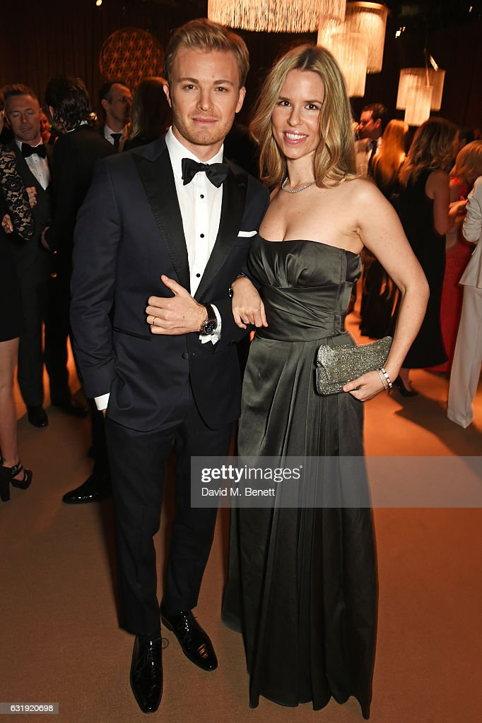 Nico Rosberg (L) and Vivian Rosberg attend the IWC Schaffhausen 'Decoding the Beauty of Time' Gala Dinner during the launch of the Da Vinci Novelties from the Swiss luxury watch manufacturer IWC Schaffhausen at the Salon International de la Haute Horlogerie (SIHH) on January 17, 2017 in Geneva, .