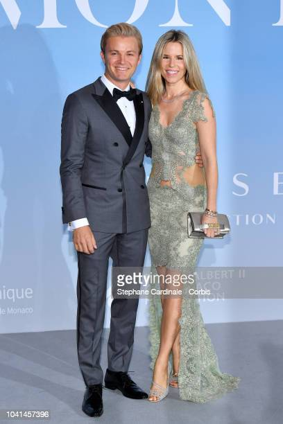 Nico Rosberg and Vivian Sibold attend the MonteCarlo Gala for the Global Ocean 2018 on September 26 2018 in MonteCarlo Monaco