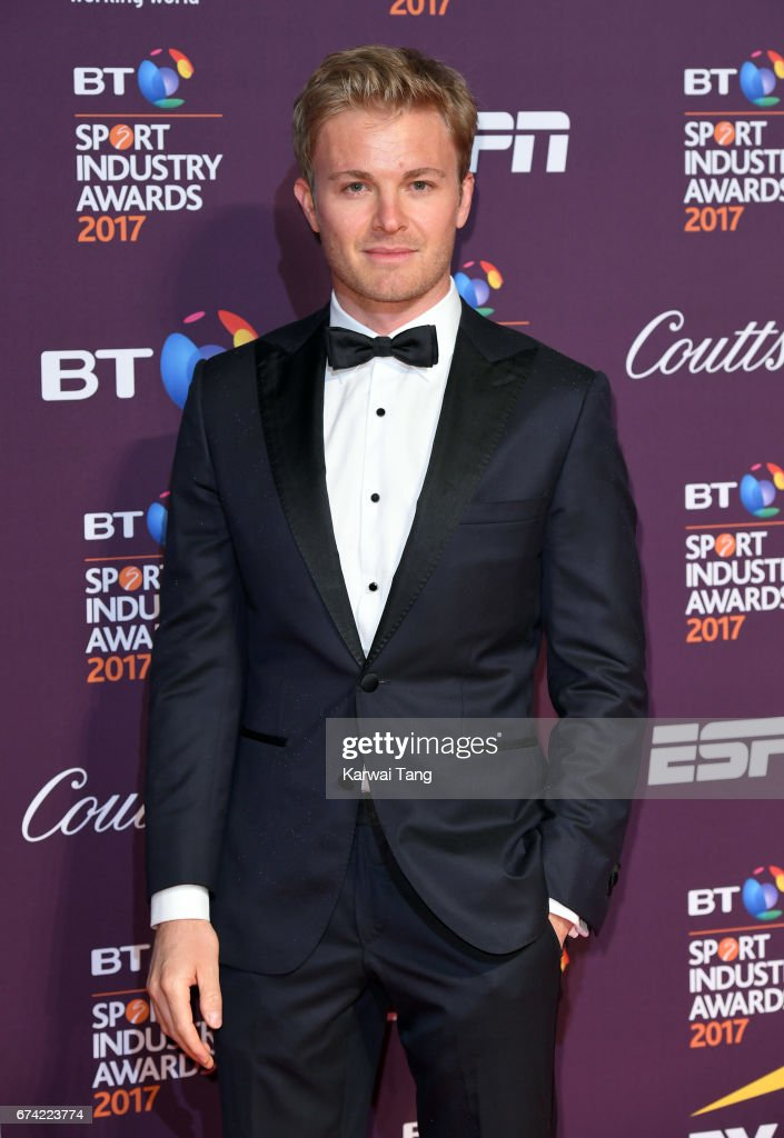 Nico Rosberg attends the BT Sport Industry Awards at Battersea Evolution on April 27, 2017 in London, England.