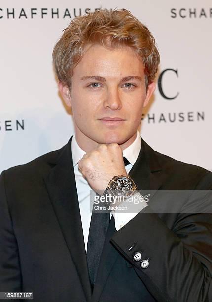 Nico Rosberg attends the IWC Schaffhausen Race Night event during the Salon International de la Haute Horlogerie 2013 at Palexpo on January 22, 2013...