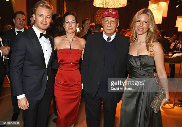 Nico Rosberg Birgit Lauda Niki Lauda and Vivian Rosberg attend the IWC Schaffhausen Decoding the Beauty of Time Gala Dinner during the launch of the...