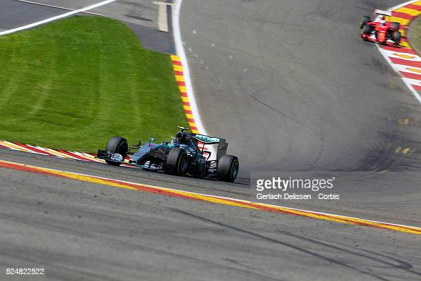 Nico Rosberg driving for the Mercedes AMG Petronas F1 Team in action during the race of the 2015 Formula 1 Shell Belgian Grand Prix at Circuit de...