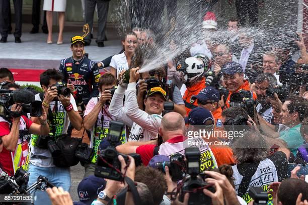 Nico Rosberg, Grand Prix of Monaco, Circuit de Monaco, 25 May 2014. Nico Rosberg celebrating his victory in the 2014 Monaco Grand Prix.