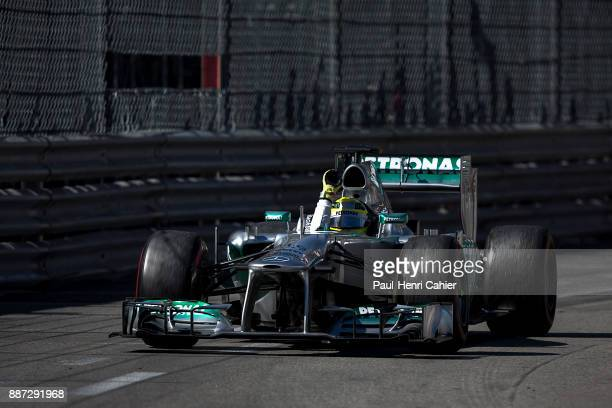 Nico Rosberg, Mercedes F1 W04, Grand Prix of Monaco, Circuit de Monaco, 26 May 2013. Nico Rosberg waves his hand after claiming victory in the 2013...