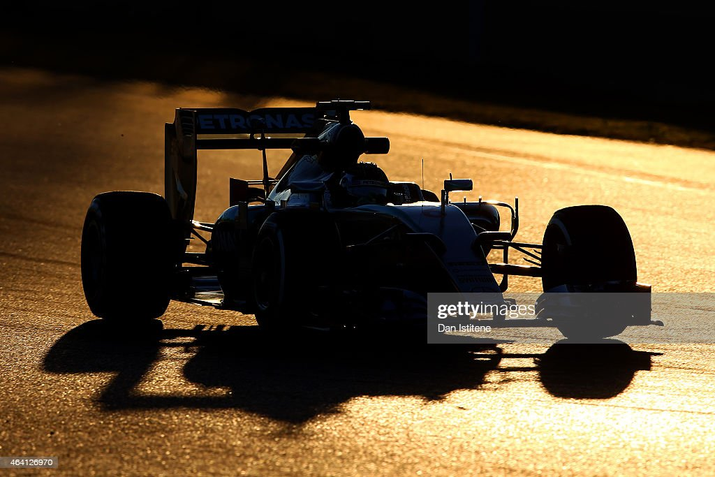 Nico Rosberg of Germany and Mercedes GP drives during day four of Formula One Winter Testing at Circuit de Catalunya on February 22, 2015 in Montmelo, Spain.