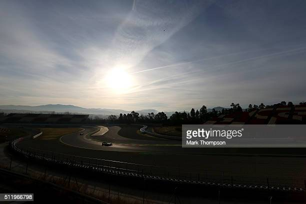 Nico Rosberg of Germany and Mercedes GP drives during day three of F1 winter testing at Circuit de Catalunya on February 24, 2016 in Montmelo, Spain.