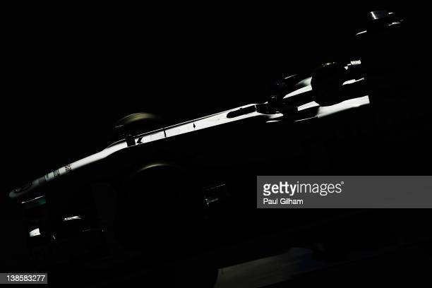 Nico Rosberg of Germany and Mercedes GP drives during day three of Formula One winter testing at the Circuito de Jerez on February 9, 2012 in Jerez...