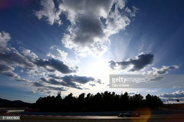 Nico Rosberg of Germany and Mercedes GP drives during day two of F1 winter testing at Circuit de Catalunya on March 2, 2016 in Montmelo, Spain.
