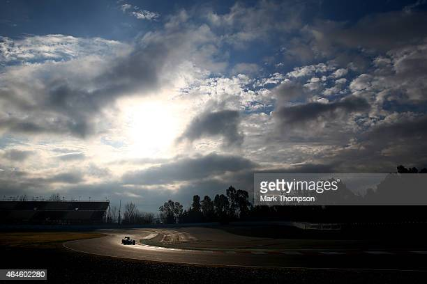 Nico Rosberg of Germany and Mercedes GP drives during day two of the final Formula One Winter Testing at Circuit de Catalunya on February 27 2015 in...