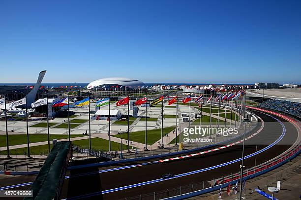 Nico Rosberg of Germany and Mercedes GP drives during final practice ahead of the Russian Formula One Grand Prix at Sochi Autodrom on October 11,...