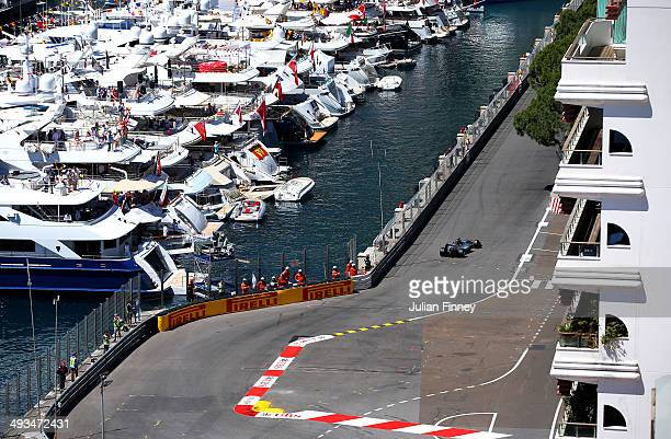 Nico Rosberg of Germany and Mercedes GP drives during final practice ahead of the Monaco Formula One Grand Prix at Circuit de Monaco on May 24 2014...