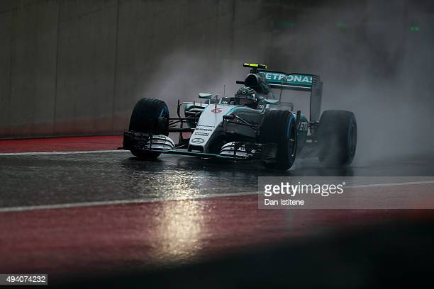 Nico Rosberg of Germany and Mercedes GP drives during final practice for the United States Formula One Grand Prix at Circuit of The Americas on...