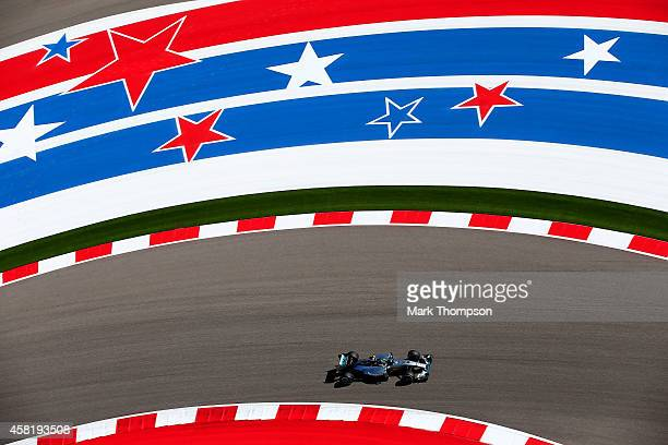 Nico Rosberg of Germany and Mercedes GP drives during practice ahead of the United States Formula One Grand Prix at Circuit of The Americas on...