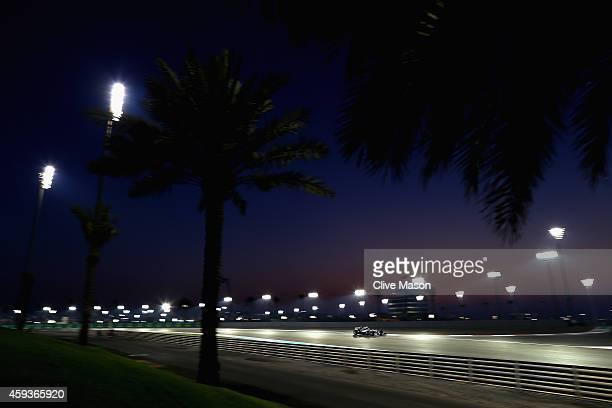 Nico Rosberg of Germany and Mercedes GP drives during practice ahead of the Abu Dhabi Formula One Grand Prix at Yas Marina Circuit on November 21,...