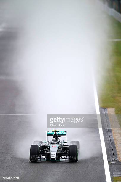 Nico Rosberg of Germany and Mercedes GP drives during practice for the Formula One Grand Prix of Japan at Suzuka Circuit on September 25 2015 in...