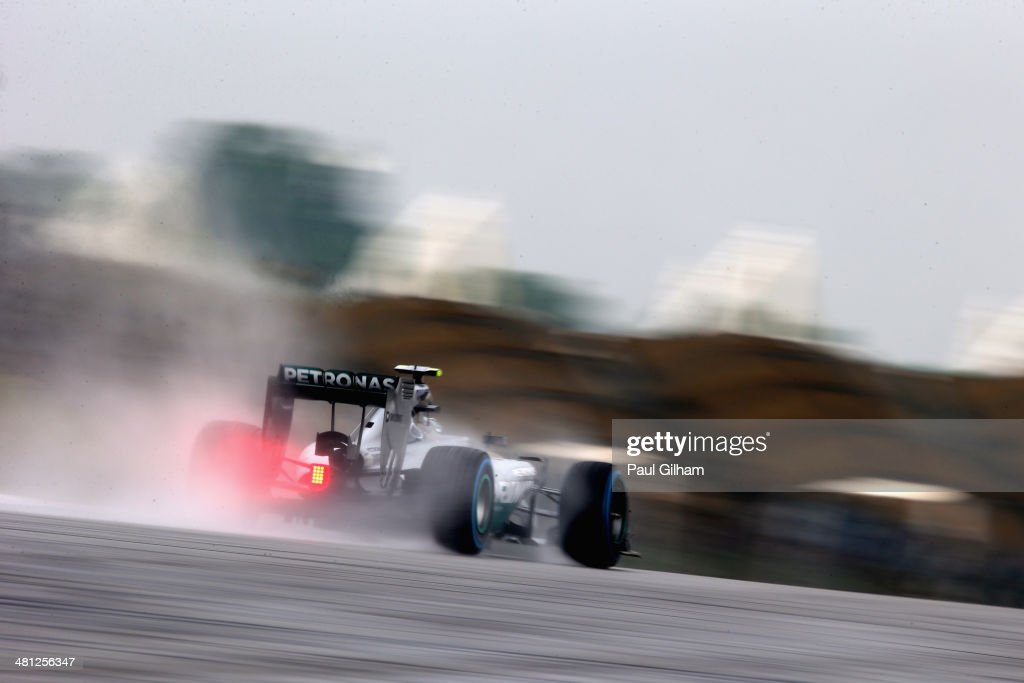 Nico Rosberg of Germany and Mercedes GP drives during qualifying for the Malaysia Formula One Grand Prix at the Sepang Circuit on March 29, 2014 in Kuala Lumpur, Malaysia.