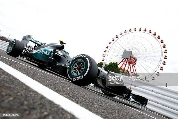 Nico Rosberg of Germany and Mercedes GP drives during qualifying for the Formula One Grand Prix of Japan at Suzuka Circuit on September 26, 2015 in...
