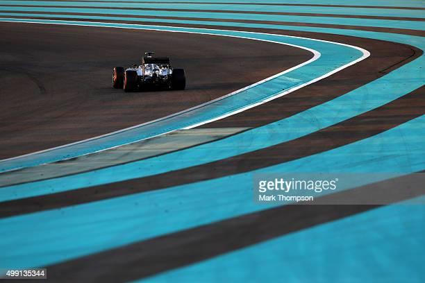 Nico Rosberg of Germany and Mercedes GP drives during the Abu Dhabi Formula One Grand Prix at Yas Marina Circuit on November 29, 2015 in Abu Dhabi,...