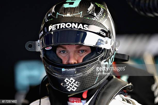Nico Rosberg of Germany and Mercedes GP in the garage during final practice for the United States Formula One Grand Prix at Circuit of The Americas...
